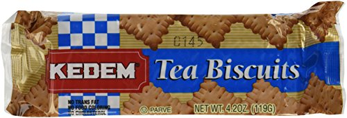 Kedem Tea Biscuits, Plain, 4.2-Ounce Packages (Pack of 24) -