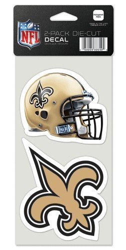 New Orleans Saints Set of 2 Die Cut Decals ()