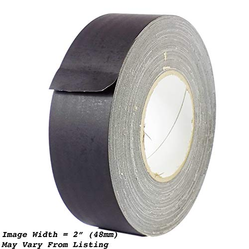 (MAT Gaffer Tape Black Low Gloss Finish Film - 1.5 in. x 60 Yards - Residue Free, Non Reflective, Better Than Duct Tape (Available in Multiple Colors))