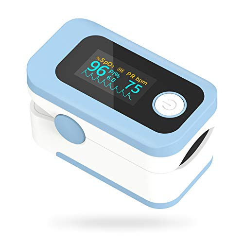 🥇 Pulsioxímetro Wawech oxímetro de dedo profesional con pantalla LED para medición de SpO2 y PI y PR lecturas instantáneas precisas y fiables