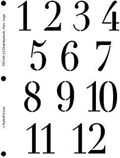 amazon com clock numerals stencil by studior12 roman numbers