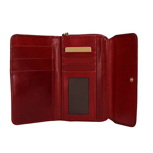 The Bridge Damen Ladies Wallet Geldbörsen, 17x10x1 cm Rosso Ribes