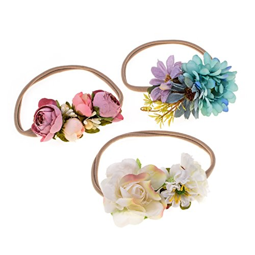 Love Sweety Baby Flower Crown Newborn Birthday Headband Floral Hair Wreath (2#)