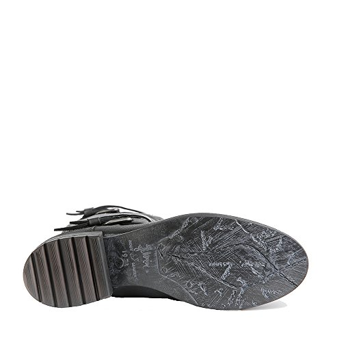 Felmini - Zapatos para Mujer - Enamorarse con Raisa 9102 - Botines Cowboy & Biker - Genuine Cuero - Negro - 0 EU Size