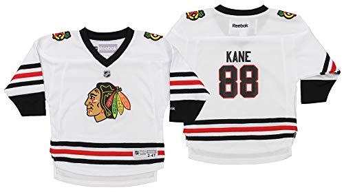 Reebok NHL Toddlers Chicago Blackhawks Patrick Kane #88 Player Jersey, White, 2T-4T (White Reebok Player)