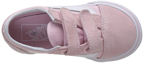 Vans Old Skool V, Baskets Mixte Bébé Rose (Suede/canvas)