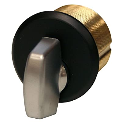 Global Door Controls Brass Thumbturn in Duronotic