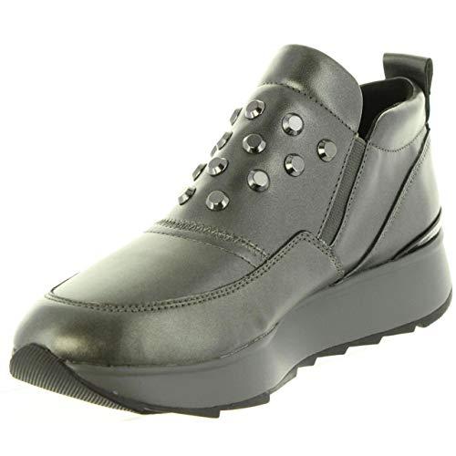 Sneaker Grey Grigio Gendry Infilare dk gun Donna Geox C1g9f A D qfzxpWqUt