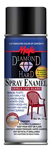 Majic Paints 178841 8-21501-8 Hard Spray Enamel Paint Aerosol Gloss Black