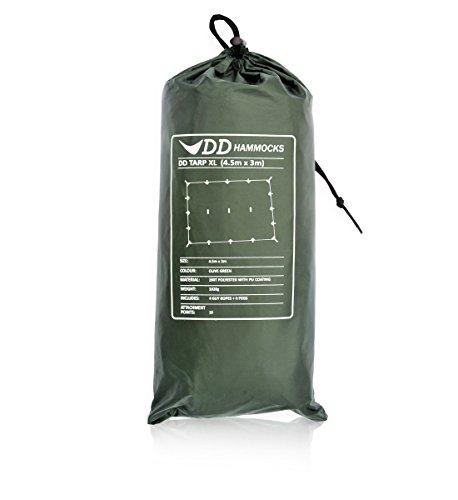 DD Tarp XL - Regendach Zelt Plane olivgrün