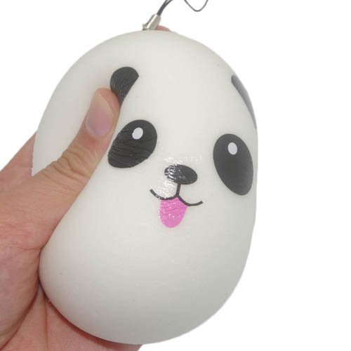 1Pc Jumbo 10cm Squishy Kawaii Panda Bread Bun Phone Charm Bag Strap Pendant Squeeze Toy
