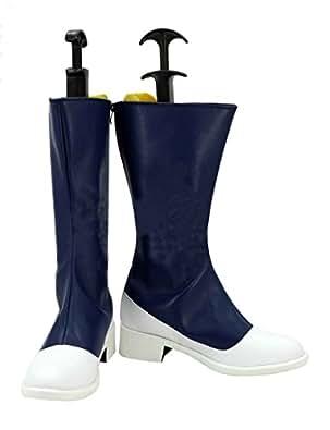 Zunpeng Shinano Toushirou Cosplay Boots Halloween PU Leather Shoes Custom Made (6 US Male, Black)