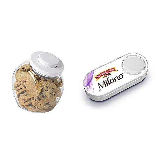 OXO Good Grips Airtight POP Medium Cookie Jar (3.0 Qt) & Pepperidge Farm Milano Cookies Dash Button