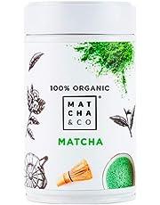 100% biologische matcha   Matcha Groene Theepoeder   Ceremoniële kwaliteit Matcha-thee   Matcha & CO