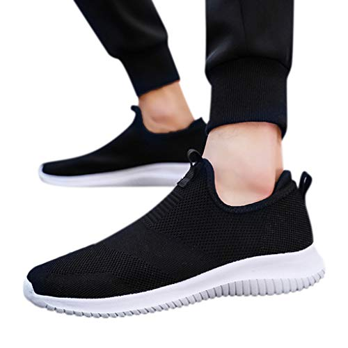 ANJUNIE Men's and Women's Comfortable Leisure Mesh Beathing Athletic Sneakers Shoes Quick Drying Aqua Water Shoes(Black,36)