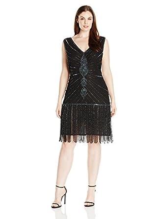 Amazon.com: Unique Vintage Women's Plus-Size 1920s Deco Beaded ...