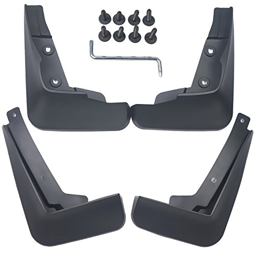 (biosp Auto Mud Flaps Splash Guards For Chevrolet Chevy Cruze 2017 2018 2019 Front and Rear Fender Cover PP-Custom Fit Black Molded 4Pcs Set )