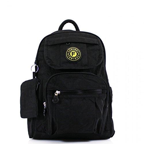 Backpack Womens Ladies Girls Black Shoulder Fabric Bag Mini Bag Gym School Rucksack College Womens Zftfq