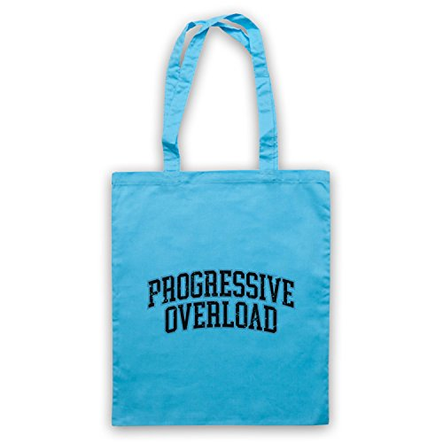 Bleu Overload Progressive Sac d'emballage Slogan Workout Clair Bodybuilding RCqnpUT