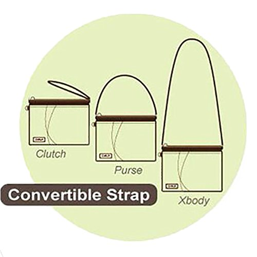 Light Mini Zipper Leather Handbag Small Brown Crossbody Doggie Pu Multi Shoulder Adjustable Strap Chala Purse dB7qd