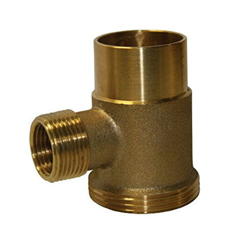 Everflow Supplies WMT112S Brass Washing Machine Tee with FIP to Slip Joint Connections, - Joint Connection Slip