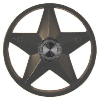 """Waterwood Brass Lone Star 3 1/4"""" Doorbell in Black"""
