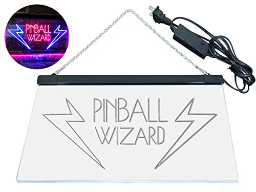 AdvpPro 2C Pinball Wizard Game Room Display Bar Beer Club Dual Color LED Neon Sign Blue & Red 12'' x 8.5'' st6s32-i2797-br by AdvpPro 2C (Image #9)