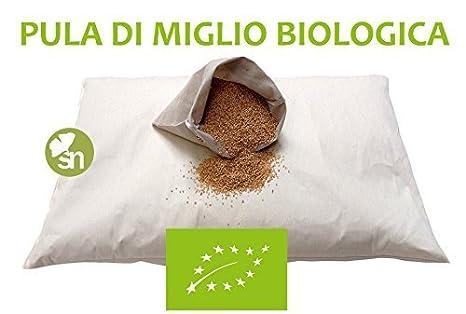 Cuscino Di Miglio Per Neonati.Stile Naturale Cuscino Notte Guanciale Cervicale Pula Di Miglio Biologica Misura 40 60cm