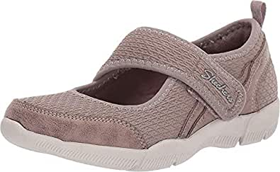 Skechers Women's Be-Lux Mary Jane Sneaker, Taupe, 7.5