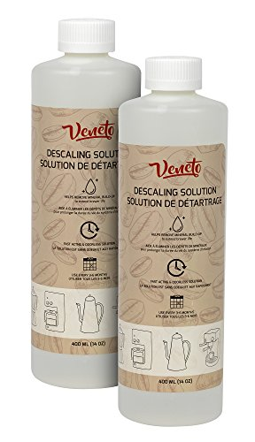 - Veneto Kitchen's 2-Package 14oz Odourless Descaling Liquid Solution for Coffee Machines and Kettles for Extended Brewer Life (2)