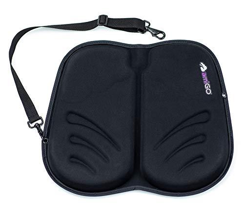 amiGO Travel Seat Cushion, Gel & Foam Portable Cushion, Folds in Half, Versatile Handle, Relieves Back Pain, Coccyx-Cutout by amiGO (Image #6)
