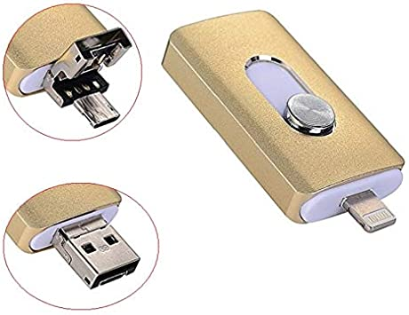 for iPhone 256GB USB Flash Drives 3-in-1 ,Lightning OTG Jump Drive,iPad Memor