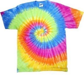 Tie-Dye T-Shirt ~ Short Sleeve ~ 100% Cotton ~ Eternity (X-Large, Eternity)