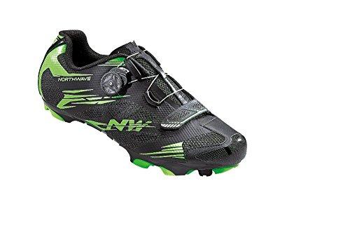 NORTHWAVE SCORPIUS 2 PLUS Mountainbike Schuhe black-green fluo