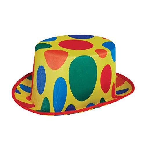 Bristol Novelty BH702 Clown Top Hat, Men, Women, Multi-Colour]()