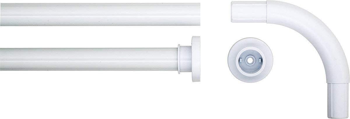 2.8 x 2.8 x 90 cm Cromo Sealskin Barra Esquinera para Cortina de Ducha Acero Inoxidable
