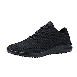 YILAN Women's Fashion Sneakers Breathable Sport Shoes (6.5, All Black-2)