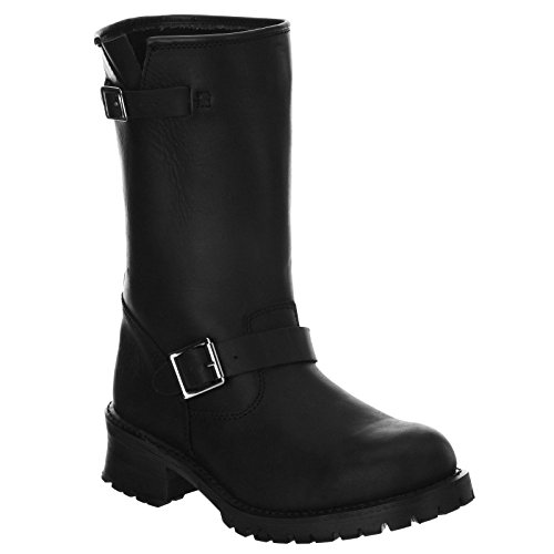 Boots Mens nero Grinders Turbo Leather UqPwt8xRB