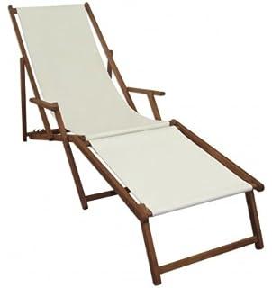 Amazon.de: Liegestuhl blau Sonnenliege Fußteil Gartenliege Holz ...