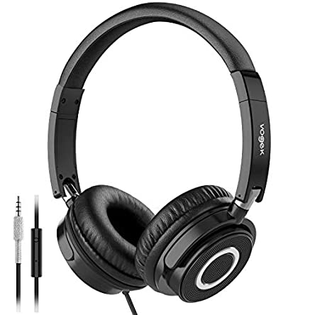 Headphones with Microphone, Vogek Lightweight Foldable...