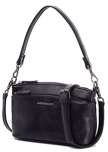 Amelie Galanti Crossbody Bags For Ni? As Many Teenagers Women Pu Leather Bags With Long Strap Black