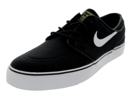 Nike Zoom Stefan Janoski CNVS Zapatillas de skateboarding Negro (Black / White-Gum Light Brown)