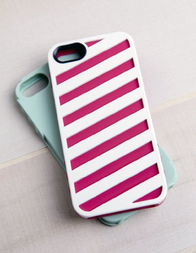 Tech Candy Hipster Collection Cadet 3-Piece Iphone 5 Hard Soft Case (White/Rose/Mint) - Hipster Candy