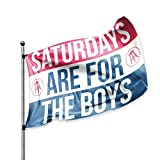 SATURDAYS ARE FOR THE BOYS Barstool Sports Official Flag | SAFTB | Perfect for Tailgating, Dorm Room, College, Football, Parties | Double Stitched, 2 Grommets