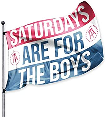 Amazon Com Barstool Sports Saturdays Are For The Boys Official Flag 3x5 Foot Durable Fade Resistant Perfect For Tailgates Dorms College Football Fraternities Parties Clothing