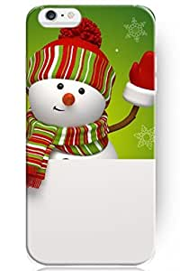 iPhone 6 him Plus 5.5 Inch Case, before Fashion Design Smile Snowman Hard moms Case For iPhone 6 Plus 5.5 Inch of hong hong case