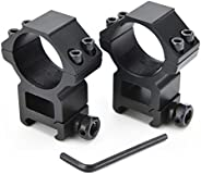 TANYIONE Medium Weaver Scope Rings, Profile Scope Mounts for Picatinny/Weaver Rail (1inch, 2Pcs)