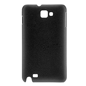 WEV Leather Grain Hard Case for Samsung Galaxy Note I9220 (Assorted Colors) , Black