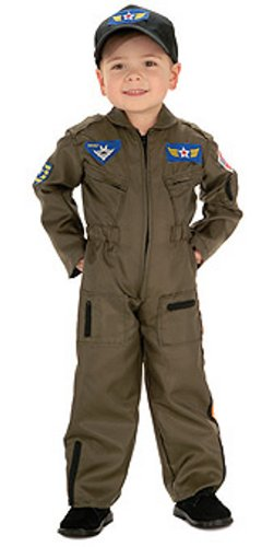 Air Force Pilot Costume (Rubie's Costume Co Air Force Fighter Pilot Costume, Medium)