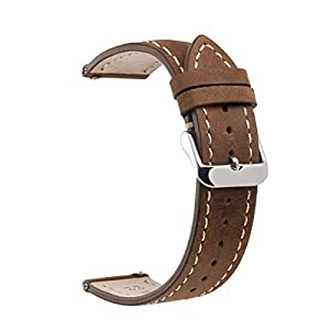 EACHE Lether WatchBand with Quick Release Spring Bar Vintage Watch Straps